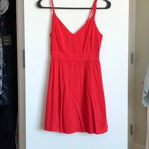 NWOT backless coral pink/red dress